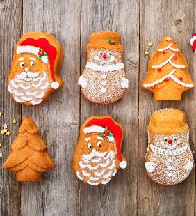 Molde 6 Figuras Navidad Birkmann