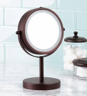 Espejo Con Luz Vanity Bronce Interdesign
