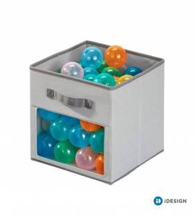 Canasto Organizador Cube Emmy Gris L Interdesign