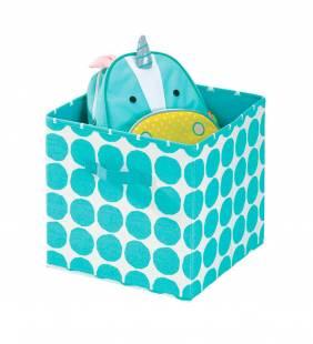 Canasto Organizador Cube Dot Turquesa L Interdesign