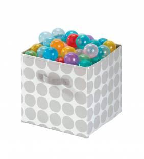 Canasto Organizador Cube Dot Gris L Interdesign
