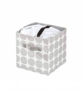 Canasto Organizador Cube Dot Gris S Interdesign