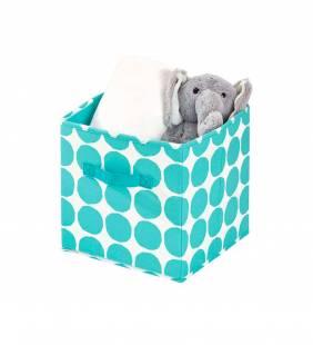 Canasto Organizador Cube Dot Turquesa S Interdesign