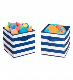 Set 2 Canastos Organizadores Cube Rayas S Interdesign