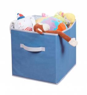 Canasto Organizador Cube Azul L Interdesign