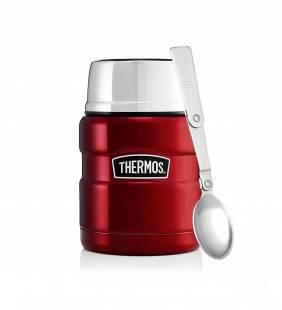 Thermo Comida Con Cuchara Rojo 470 Ml Thermos