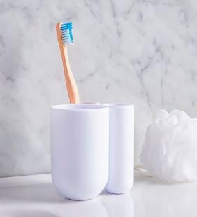 Porta Cepillo Touch White Umbra